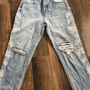 Pacsun embroidered mom jeans